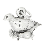 Sterling Silver Three Dimensional Partridge in Pear Tree Charm