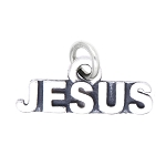 LGU® Sterling Silver Oxidized Jesus Charm Pendant -with Options