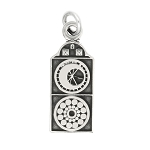 LGU® Sterling Silver Oxidized World Astrological Clock Prague Charm -with Options