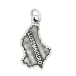 LGU® Sterling Silver Oxidized Luxembourg Travel Charm Pendant -with Options