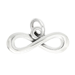 LGU® Sterling Silver Oxidized Infinity Symbol Charm Pendant -with Options