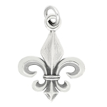 LGU® Sterling Silver Oxidized Fleur de Lis Charm -with Options