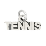 LGU® Sterling Silver Oxidized Tennis Word Sport Charm Pendant -with Options