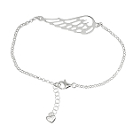 Sterling Silver 7 Inch Angel Wing Bracelet