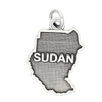 LGU® Sterling Silver Oxidized Sudan Travel Charm Pendant -with Options