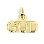 14Kt Yellow Gold Polished Lord My GOD Charm Pendant Religious Charm