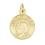 14Kt Yellow Gold Polished Travel South Carolina Hilton Head Island Charm Pendant