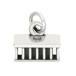 LGU® Sterling Silver Oxidized Paris France La Madeleine Charm  -with Options