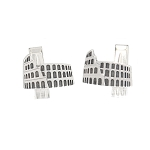 Sterling Silver Rome Roman Colosseum Coliseum Cuff Links Cufflinks