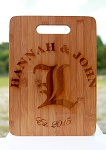 Engraved Personalized Bamboo Cutting Board for a Wedding Gift, Housewarming Gifts
