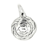 Sterling Silver One Sided Bird Nest Charm
