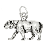 Sterling Silver Three Dimensional Prowling Panther Charm