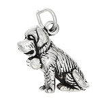 Sterling Silver Three Dimensional Saint Bernard Dog Charm