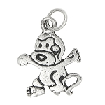 Sterling Silver Crazy Monkey Charm