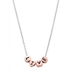 Sterling Silver LIVE Talking Bead Floating Pendant Necklace