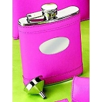 Monogrammed Personalized Stainless Steel Hot Pink Flask