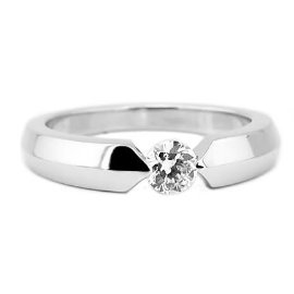 a2103b0198 Sterling Silver 1/4 Carat Round Cut Cubic Zirconia Promise Ring Engagement  Ring. Tap to expand