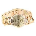Women's Fancy Runway Twist Style Gold Tone Chronograph Watch