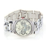 Women's Fancy Runway Twist Style Silver Tone Chronograph Watch
