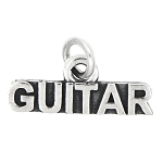 LGU® Sterling Silver Oxidized Guitar Charm (With Options)