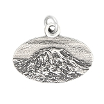 LGU® Sterling Silver Oxidized Mount Rainier Mt. Rainier National Park Washington Travel Charm -with Options