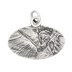 LGU® Sterling Silver Oxidized Antelope Canyon Arizona Travel Charm -with Options