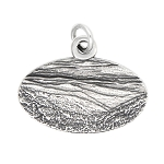 LGU® Sterling Silver Oxidized Great Smoky Mountains North Carolina Tennessee Travel Charm -with Options