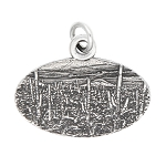 Sterling Silver Oxidized Travel Arizona Saguaro National Park Charm Pendant