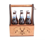 Monogrammed Wooden Beer Tote Personalized Wood Beer Caddy Groomsmen Gifts for Him Housewarming Gift *PLEASE CHOOSE PRIORITY SHIPPING AT CHECKOUT.  WE CAN ONLY SHIP THIS ITEM PRIORITY*