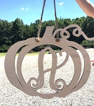 DIY Unfinished Pumpkin Door Wreath Fall Door Hanger Fall Wreath Pumpkin Wreath with Monogram