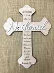 Personalized Custom Wood Cross Baptism Cross First Communion Gift Christening Gift Personalized Wooden Cross Baby Shower Gift