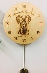 Monogrammed Personalized Wood Clock