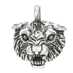 Sterling Silver 2D Bobcat Face Charm -with Options