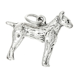 Sterling Silver Russell Terrier Dog Charm