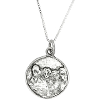 Sterling Silver Mount Rushmore Charm Necklace
