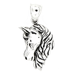 Sterling Silver Horse with Long Mane Charm