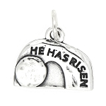 Sterling Silver One Sided Empty Tomb of Jesus Charm