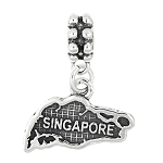 Sterling Silver Dangle SINGAPORE BEAD