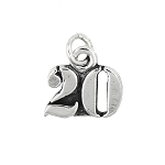 Sterling Silver Number 20 Twenty years Charm