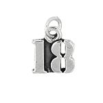 Sterling Silver Number 18 Years Eighteen Charm Pendant