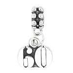 Sterling Silver Number 60 Dangle Bead Charm