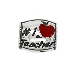 Authentic Zable #1 Teacher Bead Charm