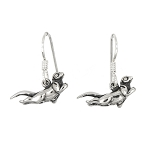Sterling Silver Sea Otter Earrings