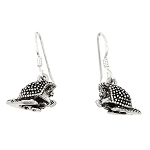 Sterling Silver Porcupine Earrings