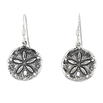 Sterling Silver Large Sand Dollar earrings