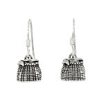 Sterling Silver Fish Basket Earrings