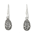 Sterling Silver Decorated Easter Egg Earrings