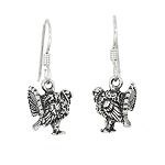 Sterling Silver Wild Turkey Earrings