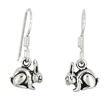 Sterling Silver Tiny Rabbit Earrings