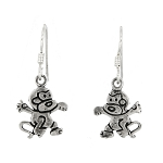 Sterling Silver Monkey Earrings
